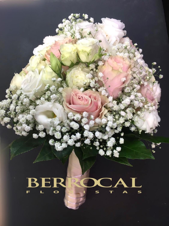 "Bride Bouquet, Romantic "" White & Nude """