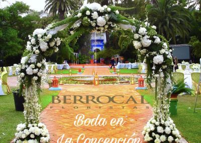 Floral arch. Wedding ceremony