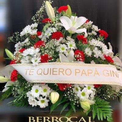 Arreglo de flores, funeral.